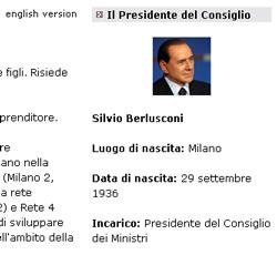 biografia berlusconi su governo.it